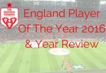 England Player Of The Year 2016